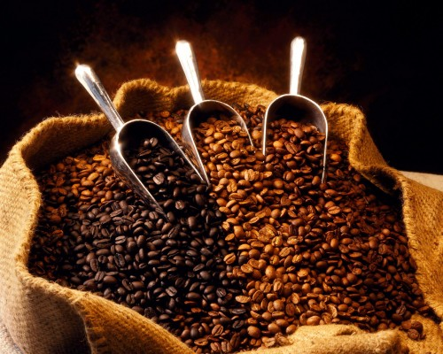 Sack mit Kaffeebohnen